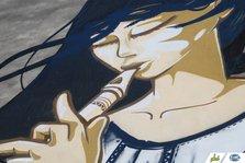 Fata de la Plai, cea mai mare pictura murala din Romania (poze)