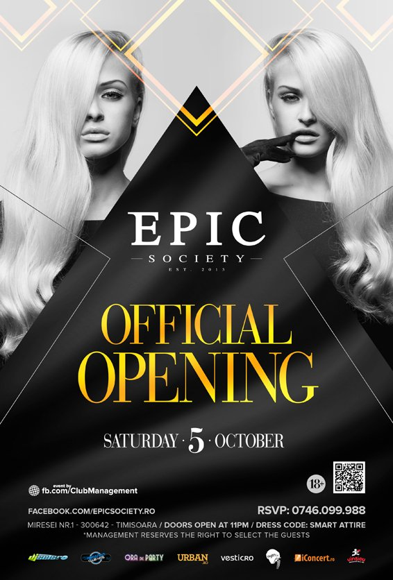 Epic society club official opening for Club epic timisoara