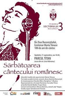 De Ziua Bucurestiului, 100 de ani de cantec - Centenar Maria Tanase in Parcul Titan