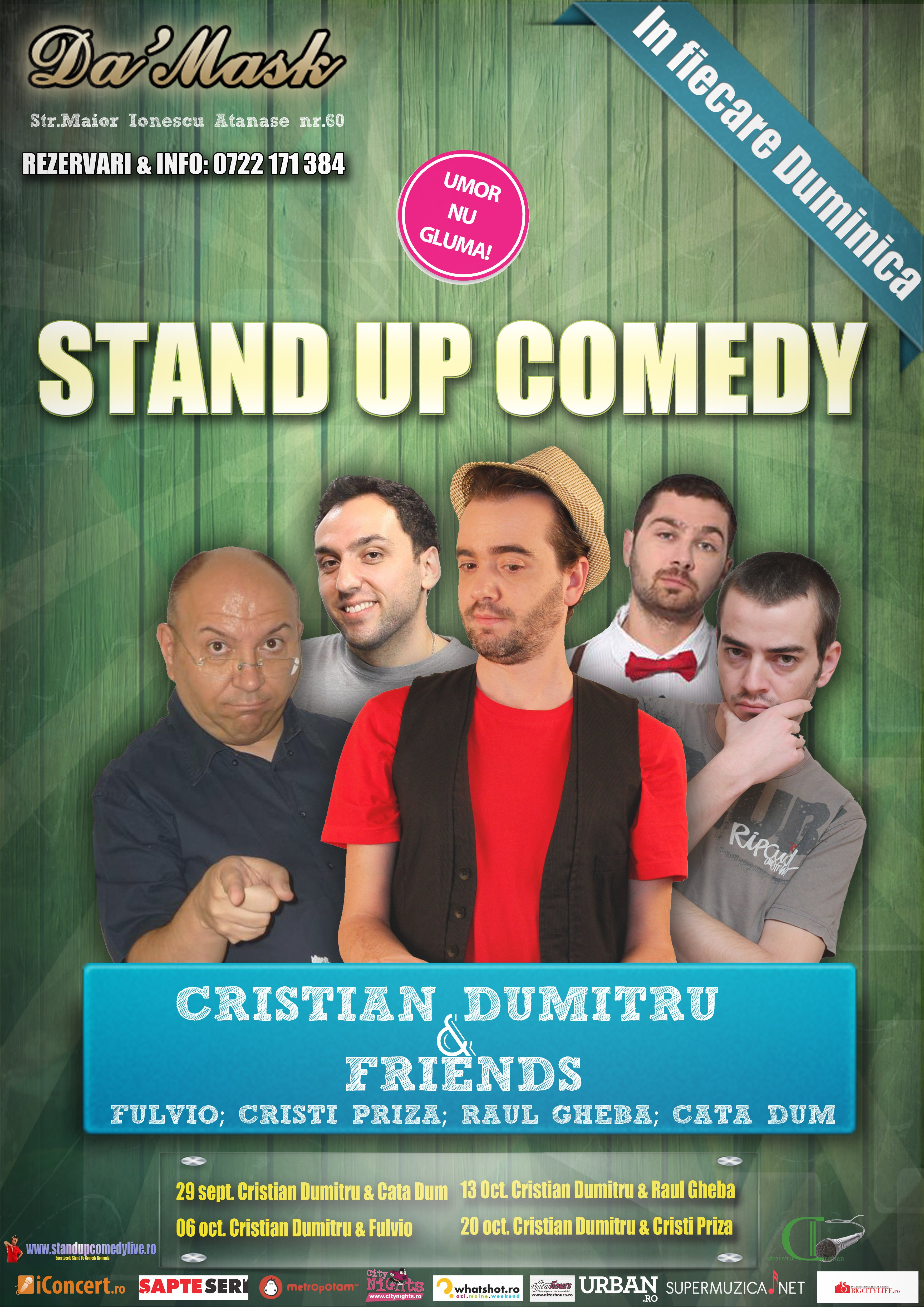 stand-up comedy duminica bucuresti  romania