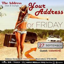 Your Address For Friday @ The Address Club & Lounge