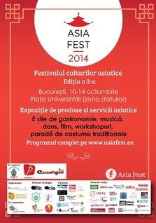 Asia Fest 2: Gastronomie, traditii, reinterpretari ale artelor Asiei