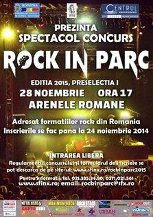ROCK IN PARC 2015 – PRESELECTIA I