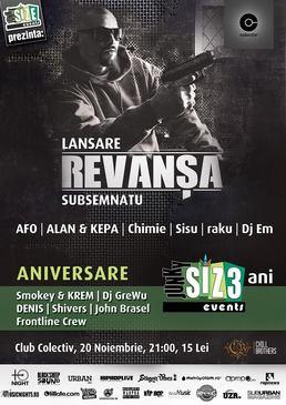 """Lansare Subsemnatu - """"Revansa"""" + Aniversare 3 ani de Junky SIZE Events @ Colectiv"""