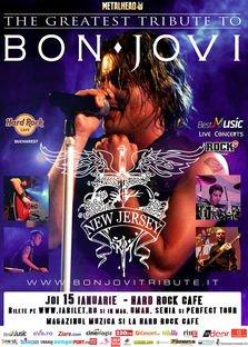 "Best Bon Jovi Live Tribute cu ""New Jersey"" @ Hard Rock Cafe"