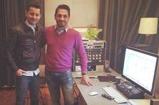 Adrian Sina si Marius Nedelcu au intrat in studio!