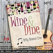 Wine and Dine - Billy Brown Live Music
