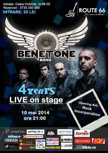 BENETONE Band aniverseaza 4 ani de concerte LIVE!