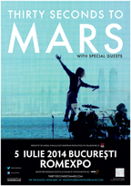 Thirty Seconds To Mars, pentru prima oara in Romania