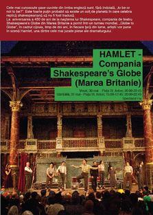 Shakespeare's Globe la Bucuresti! Se joaca Hamlet la B-FIT in the Street!