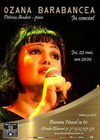 Concert Ozana Barabancea la Hanul cu tei