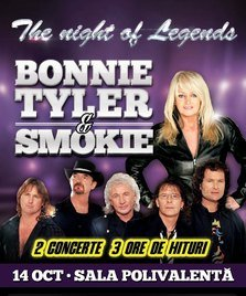 Bonnie Tyler si Smokie in concert la Sala Polivalenta