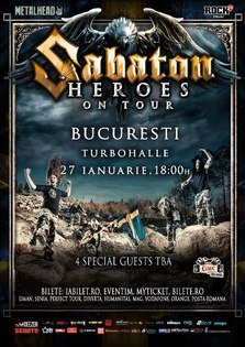 Inca o categorie de bilete Sold Out la concertul Sabaton!