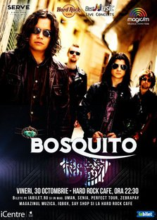 CONCERT: BOSQUITO canta la Hard Rock Cafe