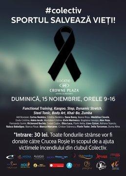 EVENT: Eveniment caritabil de fitness pentru suportul victimelor din Colectiv