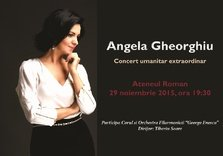 CONCERT: Angela Gheorghiu – Concert umanitar in beneficiul victimelor #COLECTIV