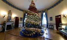 Michelle Obama a inaugurat la Casa Alba sezonul de sarbatoare si a bifat un record