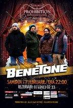 Concert live Benetone din Prohibition Bar & Club
