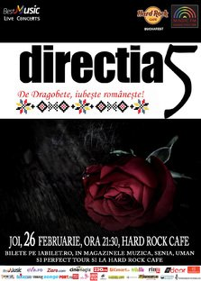 Iubeste romaneste cu Directia 5, de Dragobete @ Hard Rock Cafe