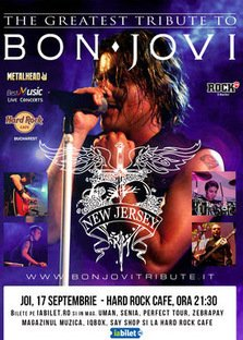 "CONCERT: Best Bon Jovi Tribute cu ""New Jersey"" la Hard Rock Cafe"