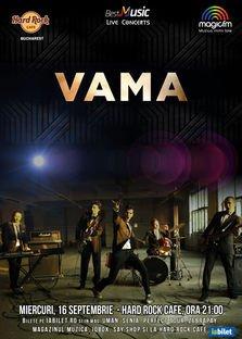 CONCURS: Castiga o invitatie dubla la concertul Vama din Hard Rock Cafe!