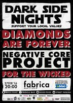 CONCERT: Diamonds Are Forever, Negative Core Project, For The Wicked @ fabrica