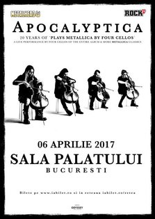 CONCERT: Apocalyptica plays Metallica by 4 cellos @ Sala Palatului