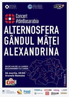 CONCERT: Alternosfera, Alexandrina si Gandul Matei @ o noua editie a concertului #dinBasarabia