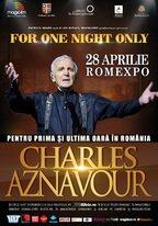 Concertul Charles Aznavour se va sustine pe 28 Aprilie 2016 la Romexpo