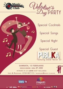 CONCERT: Valentine's Night Party la Music Club cu trupa Publika