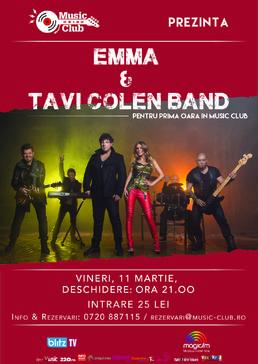 CONCERT: Tavi Colen Band & Emma, in premiera @ Music Club