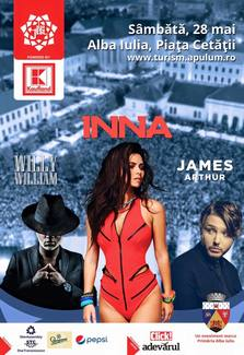 FESTIVAL: Inna, Willy William si James Arthur fac show in Ardeal
