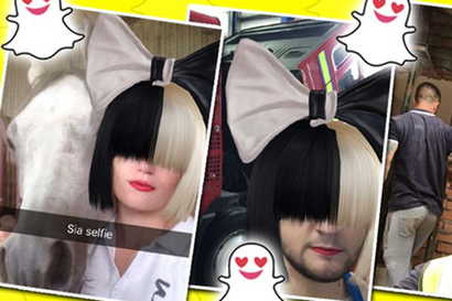 Sia are propriul filtru de snapchat!