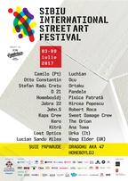 Muzica strazii acompaniaza artistii plastici  de la Sibiu International Street ART Festival 2017