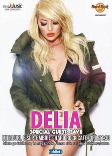 DELIA in concert pe 6 septembrie la Hard Rock Cafe