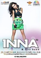 Concert INNA pe 21 septembrie la Hard Rock Cafe