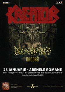Kreator, Decapitated si Dagoba canta la Bucuresti