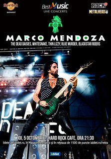 Legendarul Marco Mendoza canta la Hard Rock Cafe pe 5 octombrie