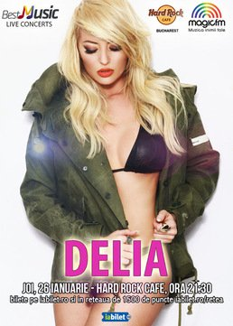 CONCERT: Delia - concert la Hard Rock Cafe