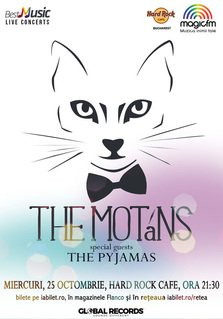 Concert The Motans pe 25 octombrie la Hard Rock Cafe