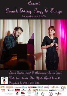 Concert French Swing, Jazz & Tango la unteatru, 24 martie, ora 21:00