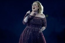 Adele, speriata de insecte la concert! (video)