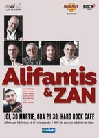 Concert Nicu Alifantis & Zan la Hard Rock Cafe pe 30 martie