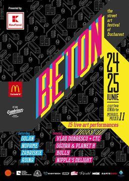 BETON Street Art Festival isi deschide portile pe 24 iunie, in Bucuresti