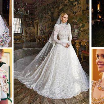 Nepoata Printesei Diana, Lady Kitty Spencer s-a casatorit cu multi-milionarul Michael Lewis intr-o vila din Italia. Mireasa a purtat 5 rochii spectaculoase realizate de Dolce & Gabbana.